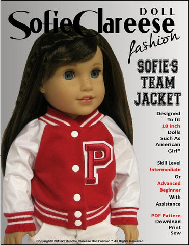 "Sofie's Team Jacket 18"" Doll Clothes"