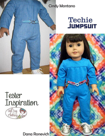 "Techie Jumpsuit 18"" Doll Clothes Pattern"