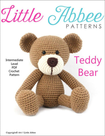 Little Abbee Amigurumi Teddy Bear Amigurumi Crochet Pattern Pixie Faire