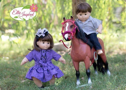 "Mini Texas Rose 15"" and 18"" Doll Clothes Pattern"
