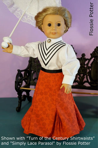 "Turn of the Century Skirt 18"" Doll Clothes"
