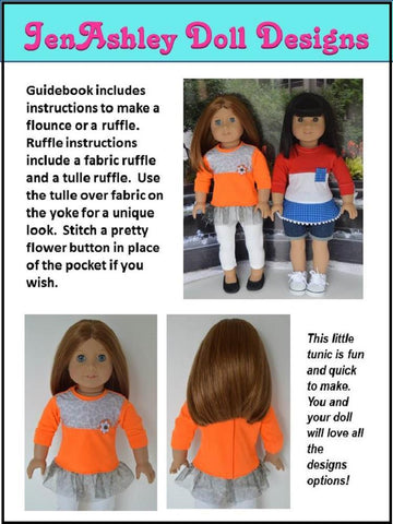 "Tri-Patch Tunic 18"" Doll Clothes Pattern"