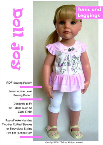 "Tunic and Leggings Pattern for 19"" Gotz Dolls"