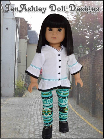 "Design Your Own Trendy Tunic 18"" Doll Clothes Pattern"