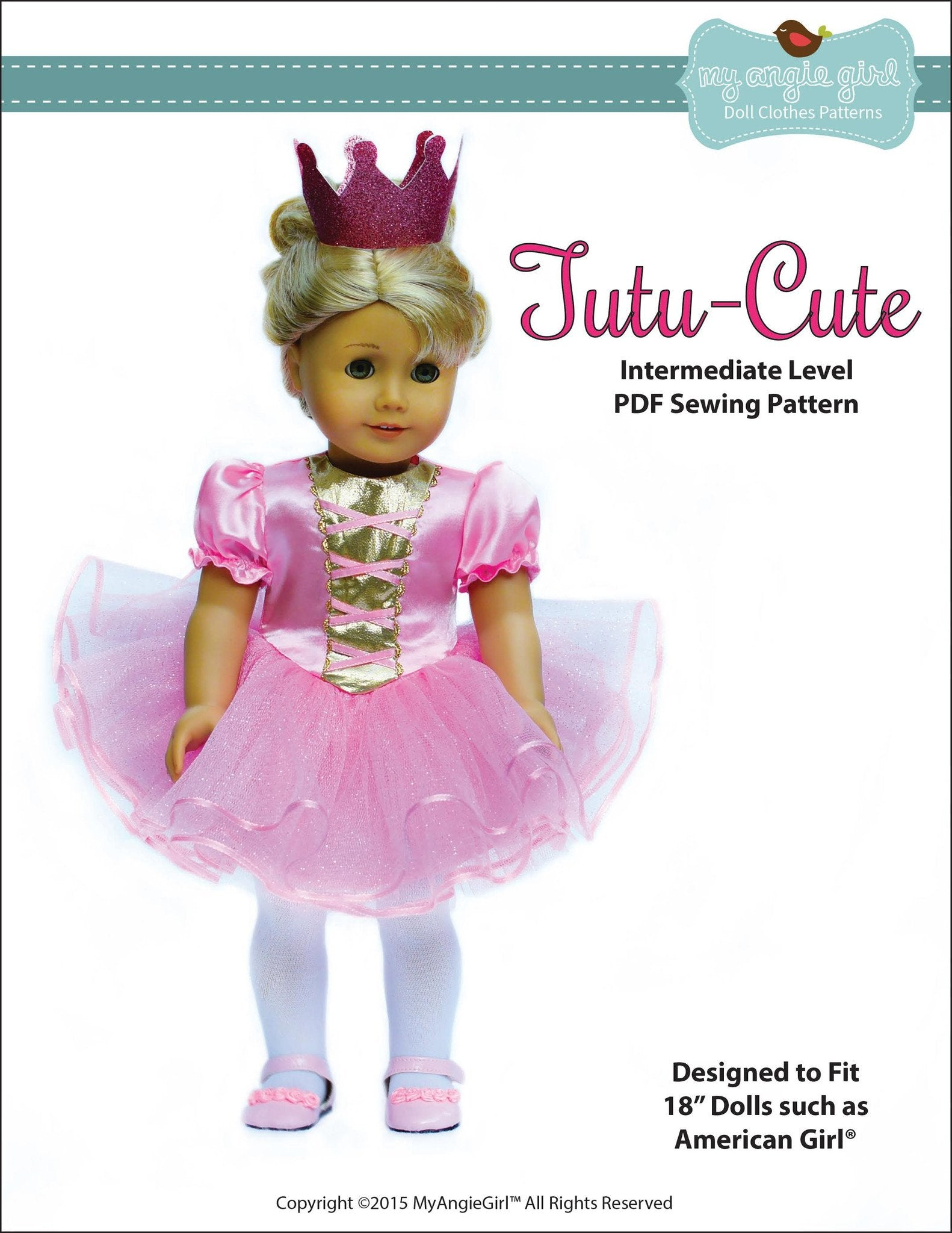 My Angie Girl Tutu Cute Story Book Dress-Up Costume Dress Doll ... 4ddc28a5c975