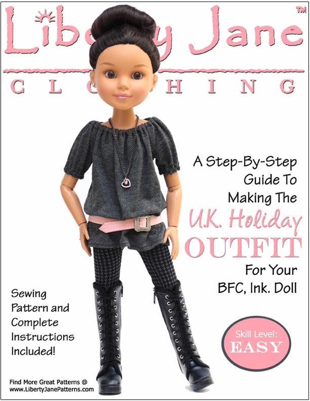 U.K. Holiday Outfit for BFC, Ink. Dolls Pattern PDF Download | Pixie ...