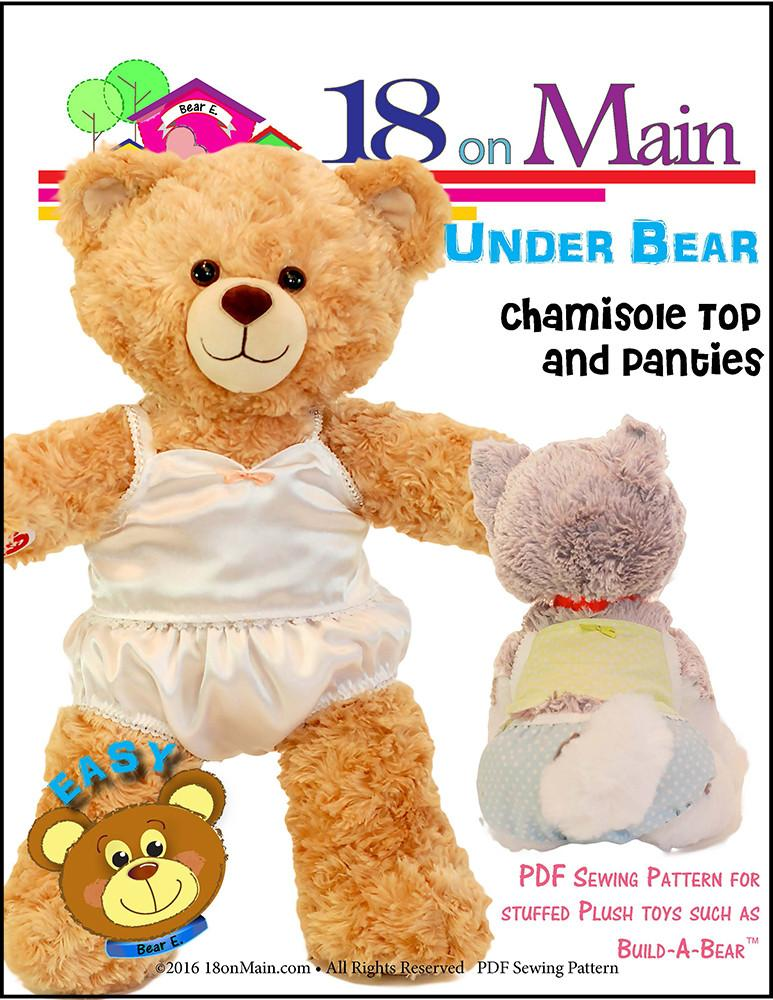 18 On Main Under Bear Plush Toy Clothes Pattern 15 to 18 inch Build ...