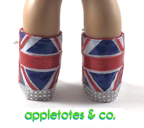 "Union Jack Boots 18"" Doll Shoe Pattern"