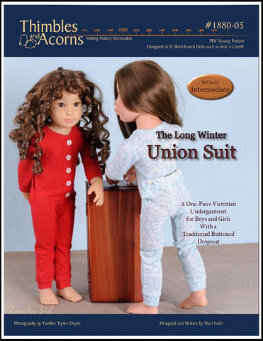 "Union Suit Pattern for 18"" Kidz n Cats and 19"" Gotz Dolls"