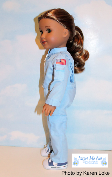 Forget Me Not Designs Space Endeavor Flightsuit 18 Inch
