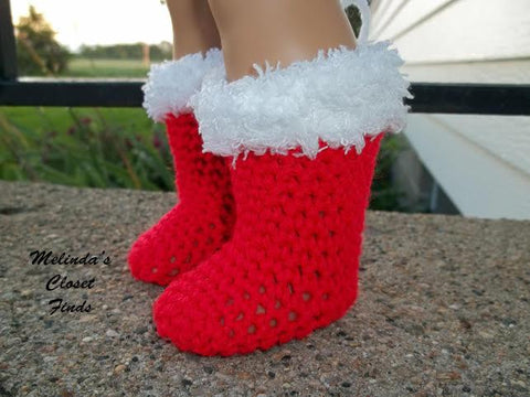 "Crocheted Christmas Stocking 18"" Doll Crochet Pattern"