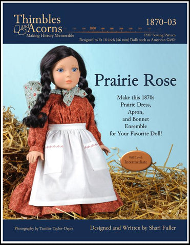 "Thimbles and Acorns 18 Inch Historical Prairie Rose 18"" Doll Clothes Pixie Faire"