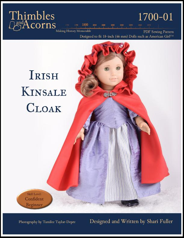 Irish Kinsale Cloak 18 inch Doll Clothes PDF Pattern Download ...