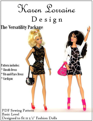 "The Versatility Package Pattern for 11-1/2"" Fashion Dolls"