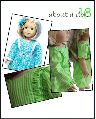 "The Volant Dress 18"" Doll Clothes Pattern"