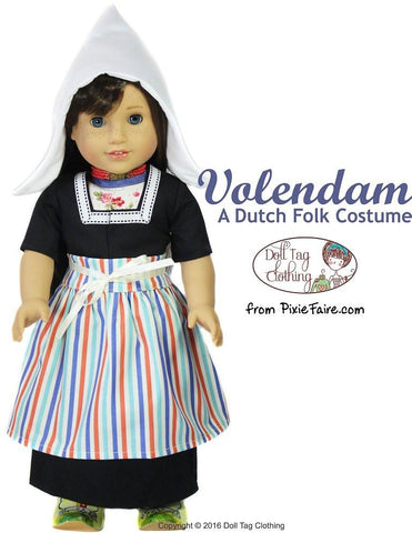 "Volendam: A Dutch Folk Costume 18"" Doll Clothes"