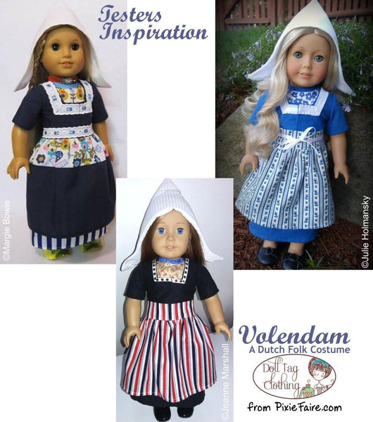 Doll Tag Clothing Volendam A Dutch Folk Costume Doll