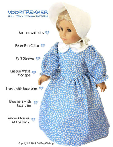 "Voortrekker 18"" Doll Clothes Pattern"