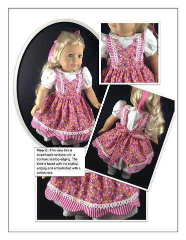 "Walk In The Park 18"" Doll Clothes Pattern"