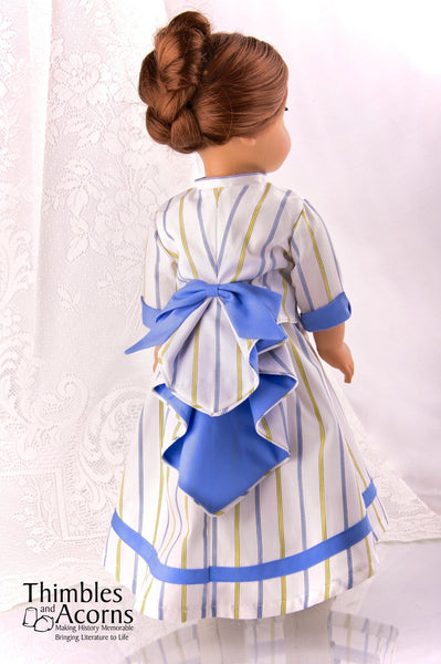 Thimbles And Acorns Waterfall Bustle Doll Clothes Pattern