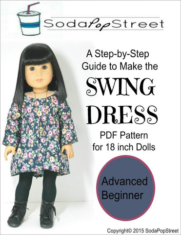 "The Swing Dress 18"" Doll Clothes Pattern"