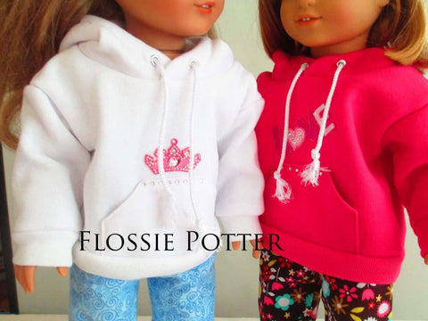 "Flossie Potter 18 Inch Modern Weekend Wear Pullover Hoodie and PJ Pants 18"" Doll Clothes Pixie Faire"