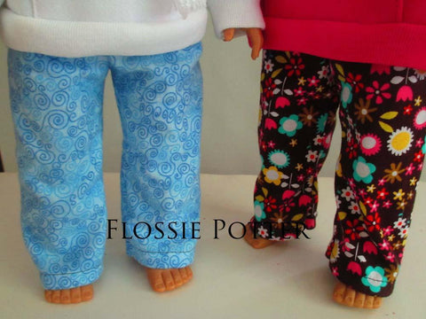 "Weekend Wear Pullover Hoodie and PJ Pants 18"" Doll Clothes"