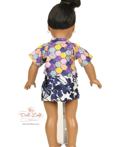 "Westside Shirts and Skirt Pattern 18"" Doll Clothes Pattern"