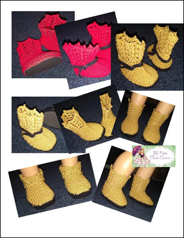 ma petite cherie couture whimy boot pdf Crochet shoe pattern designed to fit 18 inch American Girl dolls