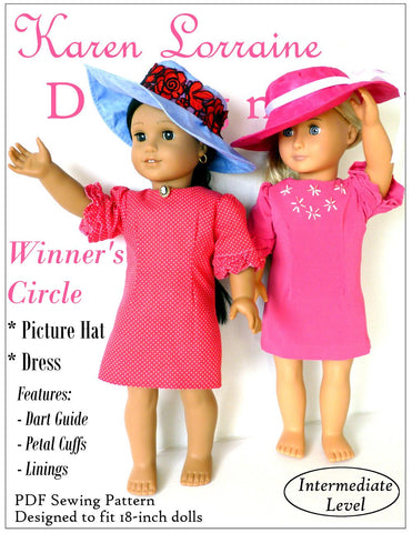 "Winner's Circle 18"" Doll Clothes Pattern"