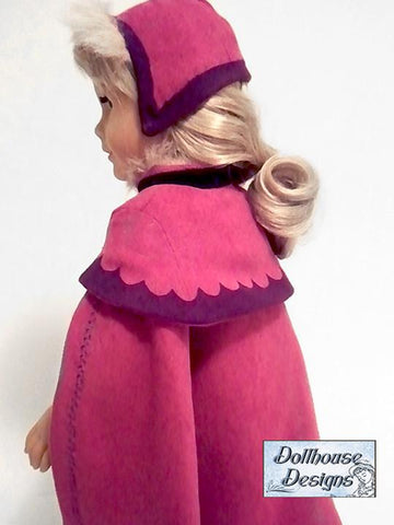 "Nordic Winter Cape & Cap 18"" Doll Clothes"