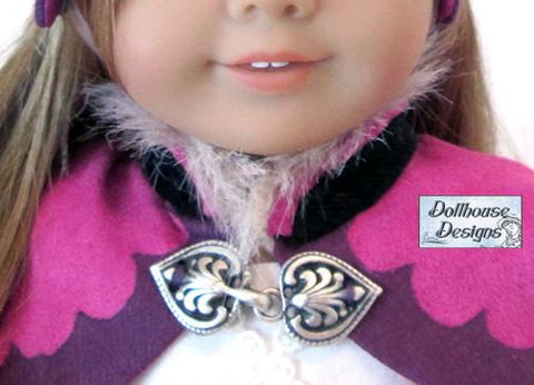 "Dollhouse Designs 18 Inch Modern Nordic Winter Cape & Cap 18"" Doll Clothes Pixie Faire"
