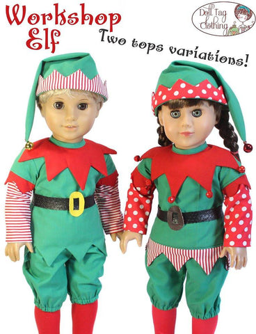 "Workshop Elf 18"" Doll Clothes Pattern"