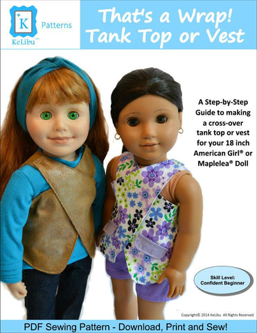 "That's a Wrap! Tank Top or Vest 18"" Doll Clothes"