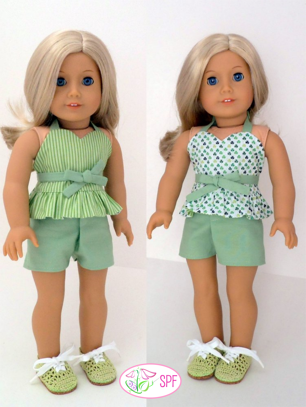 Wrap Amp Tie Halter Dress And Top Doll Clothes Pattern 18