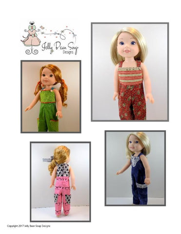 "Jelly Bean Soup Designs WellieWishers City Casual 14.5"" Doll Clothes Pattern Pixie Faire"