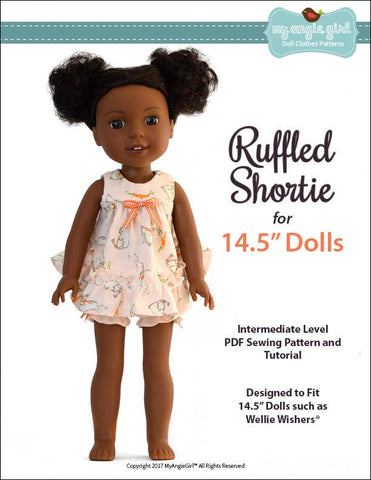 "Ruffled Shortie Set 14.5"" Doll Clothes Pattern"
