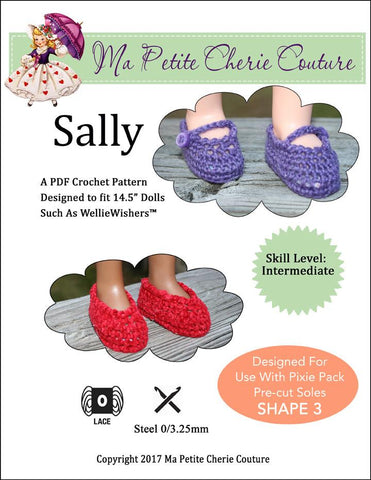 "Mon Petite Cherie Couture WellieWishers Sally 14.5"" Doll Clothes Crochet Pattern Pixie Faire"