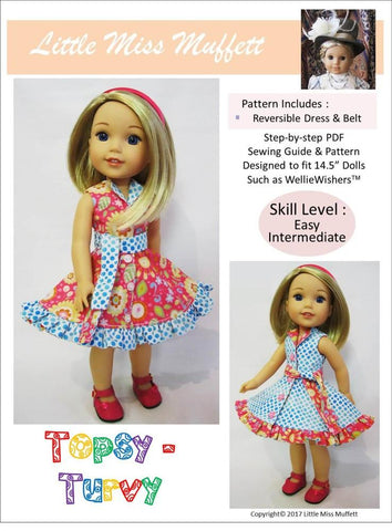 "Topsy-Turvy 14.5"" Doll Clothes Pattern"