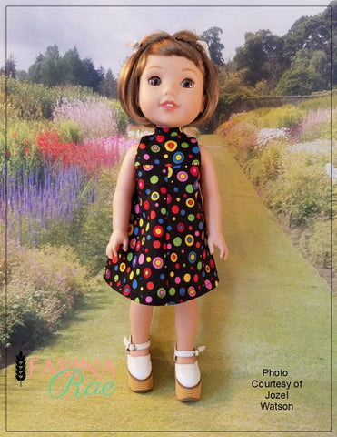 "Christy Dress 14-14.5"" Doll Clothes Pattern"