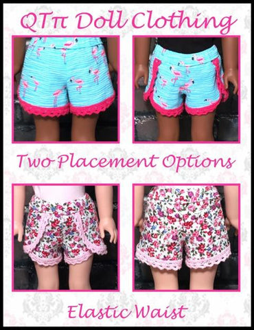 "QTπ Doll Clothing WellieWishers Lace Dolphin Shorts 14.5"" Doll Clothes Pattern Pixie Faire"