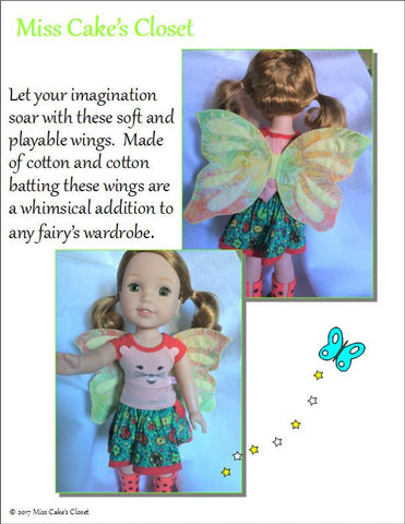 "Garden Fairy Wings 13-14.5"" Doll Accessory Pattern"