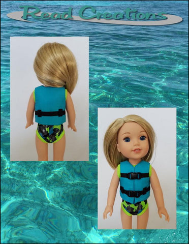 "Life Jacket 14-14.5"" Doll Clothes Pattern"