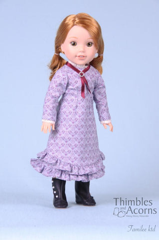 "Mary and Laura 14.5"" Doll Clothes Pattern"
