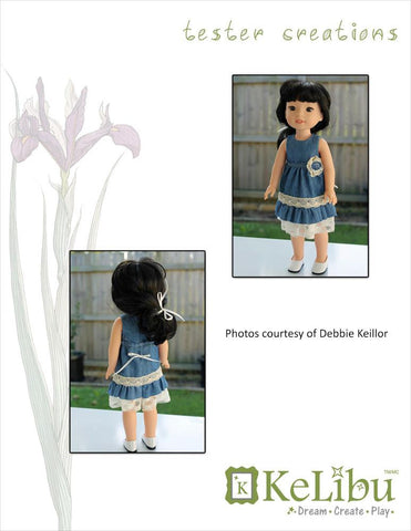 Mori Girl Ruffled Dress 14-14.5 Inch Doll Clothes Pattern