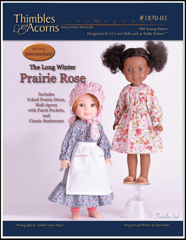 "Thimbles and Acorns WellieWishers Prairie Rose 14.5"" Doll Clothes Pattern Pixie Faire"
