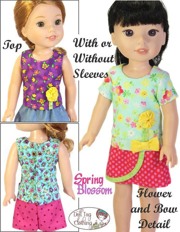 "Spring Blossom 14.5"" Doll Clothes Pattern"