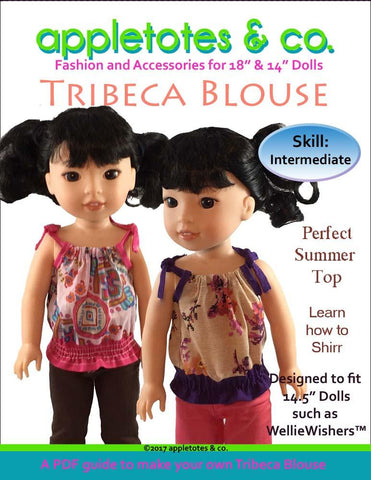 Tribeca Blouse 14.5 Inch Doll Clothes Pattern