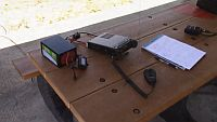 Portable ops - FT-891 and a Bioenno battery at the park 4-27-2018