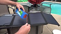 Solar Panel Foldable & Portable - 28 Watt - Unbox & Test by Bioenno